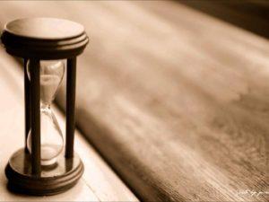 加齢を表す砂時計