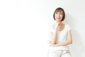 前向きに考える女性